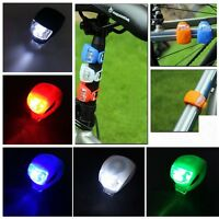 New Safety Silicone Light Bike Bicycle Head Front Rear Wheel LED Lamp