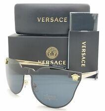 NEW Versace sunglasses Medusa VE2120 100287 43 Black/Gold Grey AUTHENTIC 2120