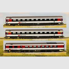 Set carrozze passeggeri in 3 pezzi delle SBB - Art. Roco 64143