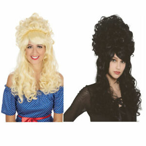 Panto Beehive Wig Fancy Dress 60s Bouffant Mod Groovy Pantomime New