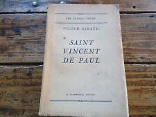 RELIGIEUX - SAINT VINCENT DE PAUL - VICTOR GIRAUD - LES GRANDS COEURS - 1932
