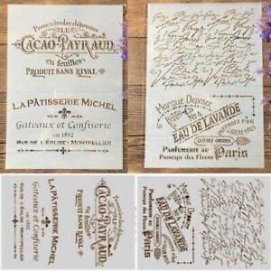 2Pcs/Lot French Words Craft Layering Stencils Painting Scrapbooking Stamping