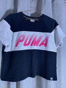 Puma Crop Short Sleeve Jumper Top - S Small - 10 -
