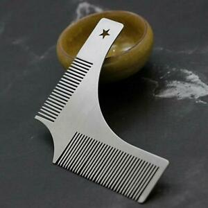 Stainless steel Tool Beard Styling Shaping Template Comb Shaper Barber Stencil