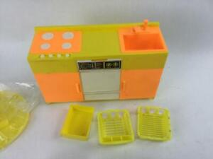 Barbie Arco 1978 Kitchen Set With New Table, Dish Drainers & Instructions