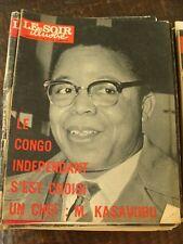 Le Soir Illustré 30/6/1960 - Le Congo : M. KASAVUBU - Valère Henry -Tommy Steele