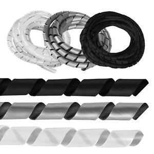 Flexible Kabelspirale Kabelkanal Kabel Schlauch Bündel Wickel Spiralband 3 Meter