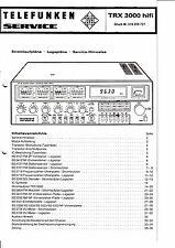 Service Manual-Anleitung für Telefunken TRX 3000