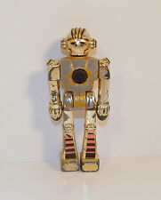 "1979 Mini Silver Warrior 3.5"" Kidco Action Figure Metal & Plastic Gold Robot"