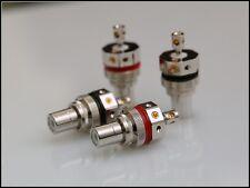 Valab Solder Free Design Rhodium Plate Tellurium Copper RCA Socket -- 2 Pairs