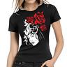Lady Rose Rosen Sexy Women Schlagring Brass Knuckles Lady Damen Girlie T-Shirt