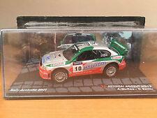 """DIE CAST """" HYUNDAI ACCENT WRC2 RALLY AUSTRALIA 2001 """" LA PASSIONE IN SCALA 1:24"""