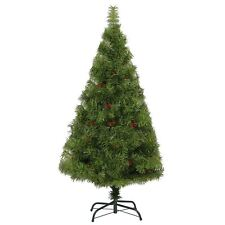 6ft 180cm Elegant Artificial Christmas Tree with Berries Xmas Holiday Decoration