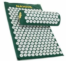 NAYOYA Back and Neck Pain Relief Acupressure Mat and Neck Pillow