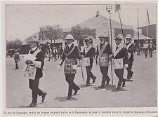 1910  --  MACONNERIE  POSE DE LA 1re PIERE DU TEMPLE DE BULUWAYO RHODESIE  3J343