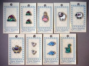Vintage 1990 Daisy Kingdom Novelty Figural Buttons Lot Carded MIC P1627