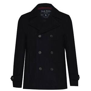 Jack Wills Mens Frith Peacoat Coat Top Jacket Long Sleeve