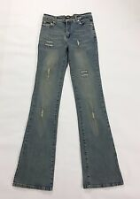 Dolce Gabbana DG jeans a zampa usati bootcut svasati w28 tg 41 42 strappi donna