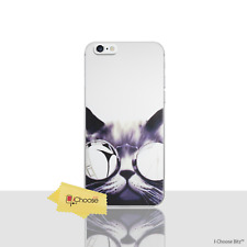 """Funny Animals Case/Cover iPhone 6/6s 4.7"""" / Screen Protector / Gel / Cat Glasses"""