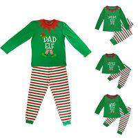 Family Match Kid Mom Dad Christmas Pajamas Set Xmas Sleepwear Nightwear Newly