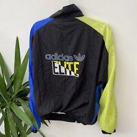 Vintage Adidas Elite Shell Suit Jacket Windbreaker Blue Yellow Sz S 34/36