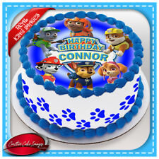 Paw Patrol Edible Cake Topper Image Icing Birthday Party Personalised Decoration