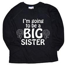 T-shirt noir à manches longues pour fille de 2 à 16 ans