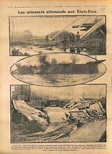 Firefighter Fire Dock Black Tom New-Jersey Quai Incendie USA 1916 WWI