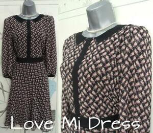M&S Collection - Stunning 40's Style Bird Print Tea Dress Sz 16 EU44