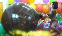 1x Big Cattex *Looner print* 36-45 inch *Black* riesen luftballon looner