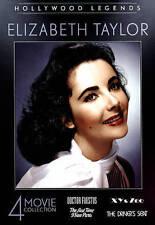 NEW Hollywood Legends: Elizabeth Taylor - 4 movie set (DVD, 2015, 2-Disc Set)