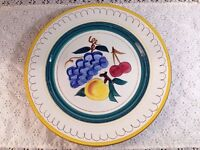 Stangl FRUIT Yellow Trim Dinner Plate Vintage Excellent Condition