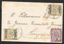 Netherlands Indies covers 1909 mixed franked cover to Singapore