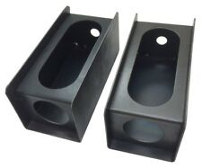 """Set of 2 steel trailer 6"""" oval tail light/2"""" round side light mount boxes -24013"""
