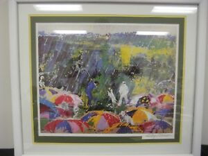 """LEROY NEIMAN SIGNED CLASSIC """"ARNIE AT AUGUSTA"""" LITHOGRAPH WOOD FRAMED & MATTED"""