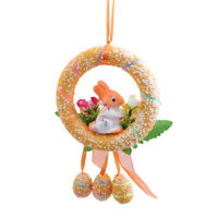 Easter Bunny Egg Decorative Wreath Foam DIY Hanging Ornaments For Party Home