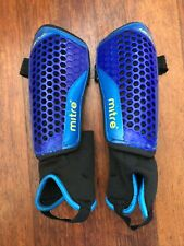 Mitre Aircell Carbon Shin Pads : Fixed Sock, Ankle Protection, Stirrups : Size M