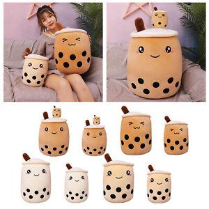 Cute Milk Tea Boba Bubble Tea Plush Stuffed Soft Toy Doll Hugging Pillow