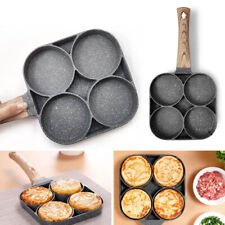 New listing Omelet Pan 4 Hole Non-stick Burger Frying Eggs Ham Pancake Cooking Maker New