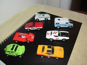 Aurora AFX Slot Cars  ( 7 RUNNING CARS )