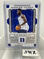 ZION WILLIAMSON - New Orleans Pelicans - Contenders Panini card - no. 1 - RC 5