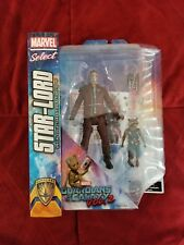 """Marvel Select Guardians Of The Galaxy 2 Star- Lord With Rocket 7"""" Action Figure"""