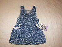 Girls Sparkle Denim Jumper Dress - Size 4 T - New with Tag