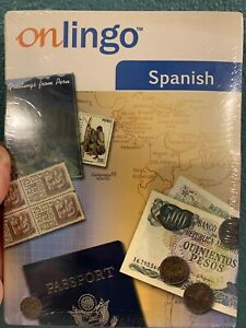 Onlingo Spanish Level 1  2 Audio CD + 1 CD ROM + Learning Guide NEW SEALED