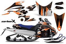 AMR Racing Sled Wrap Yamaha FX Nytro Snowmobile Graphics Kit 08-14 CARBON X ORNG