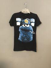 Sesame Street Cookie Monster Black Small Graphic Tshirt