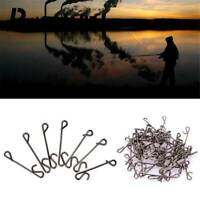 50pcs Braid Knotless Fishing Line Wire Connector Connectors Barrel Swivel Kit r