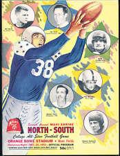 1952 12/25 North vs South All Star Football Game Program Miami Florida