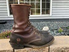 """Men's Double H 10"""" Ice Packer Lacer Leather Logger Work Boots Size 12 D 9625"""