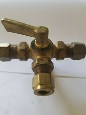 3//16  Imperial Brass Needle Valve Female with tube fittings on ends 105EF-3